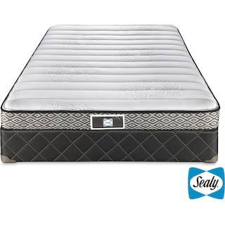 Sealy Loftus Firm Twin Mattress and Boxspring Set