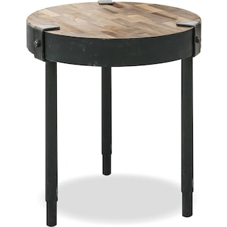 Buxton Wood Top Accent Table