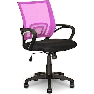 Caltra Office Chair – Pink