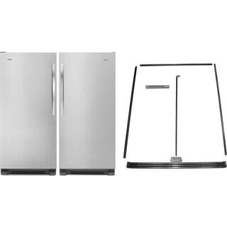 Whirlpool SideKicks® 18 Cu. Ft. All-Refrigerator, 18 Cu. Ft. All-Freezer and Trim Kit