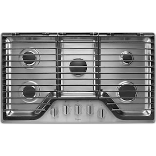 """Whirlpool 36"""" Gas Cooktop – WCG97US6DS"""