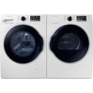 Samsung 2.6 Cu. Ft. Front-Load Washer and 4.0 Cu. Ft. Electric Dryer – White