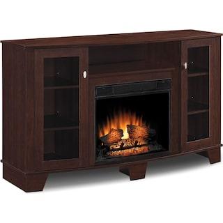 "Davis 59"" TV Stand with Log Firebox"