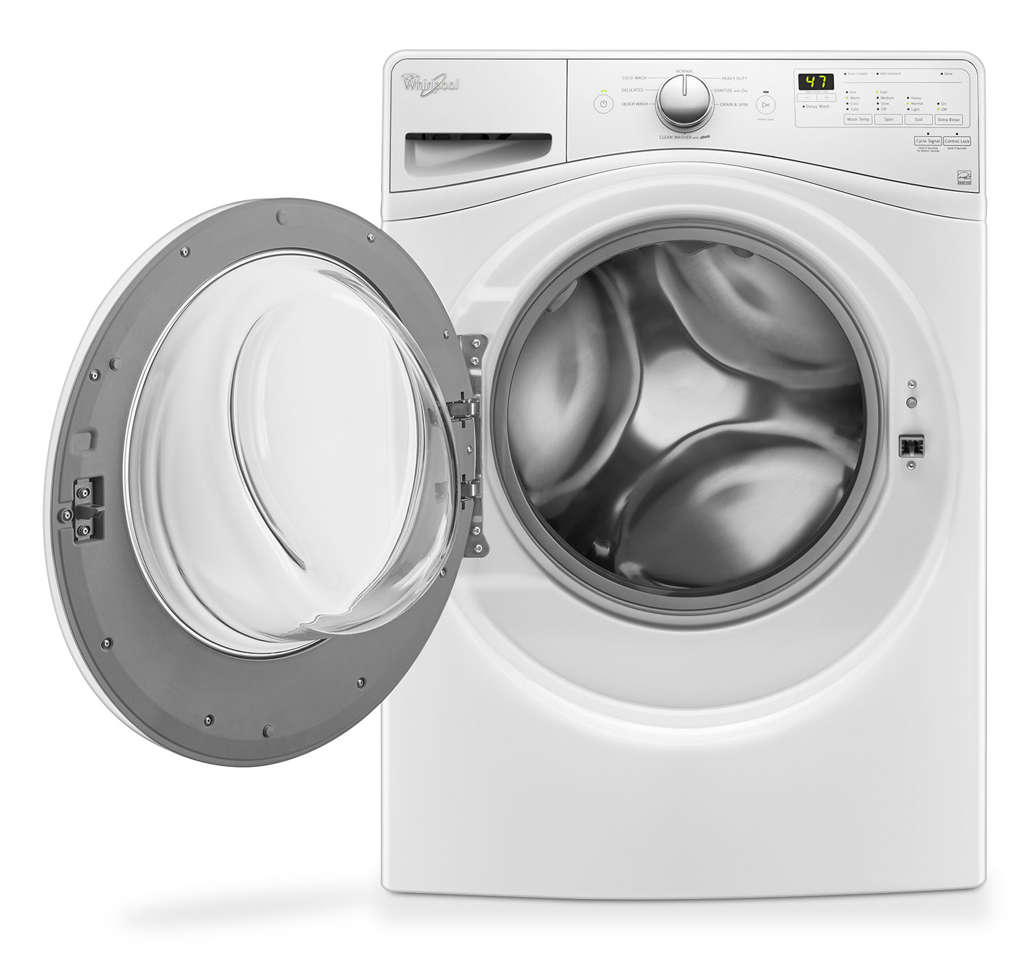 Whirlpool 5.2 Cu. Ft. Front-Load Washer And 7.4 Cu. Ft