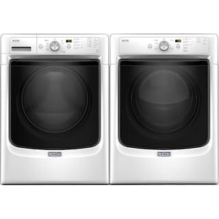 Maytag 4.5 Cu. Ft. Front-Load Washer and 7.4 Cu. Ft. Electric Dryer – White