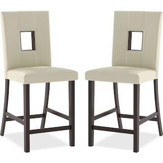 Delano  Counter-Height Dining Chair, Set of 2 – White