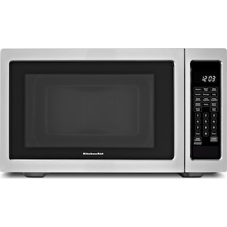 KitchenAid Stainless Steel Countertop Microwave (1.6 Cu. Ft.) - YKCMS1655BS