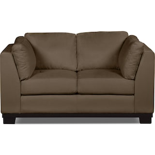 Carlow Microsuede Loveseat – Cocoa