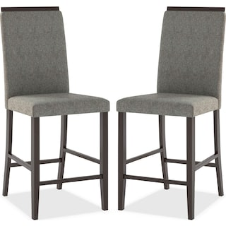 Watlington Counter-Height Dining Chair, Set of 2 – Pewter Grey