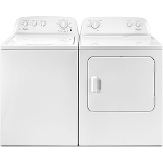 Whirlpool 3.5 Cu. Ft. Top-Load Washer and 3.5 Cu. Ft. Electric Dryer – White