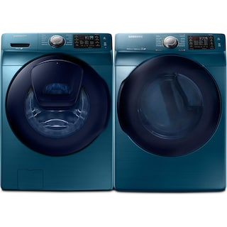 Samsung 5.2 Cu. Ft. Front-Load Washer and 7.5 Cu. Ft. Electric Dryer – Sapphire Blue