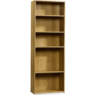Currow 3-Shelf Bookcase – Highland Oak