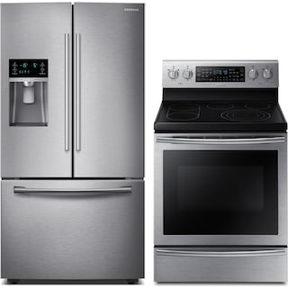 Samsung 28 Cu. Ft. Refrigerator and 5.9 Cu. Ft. Electric Range – Stainless Steel