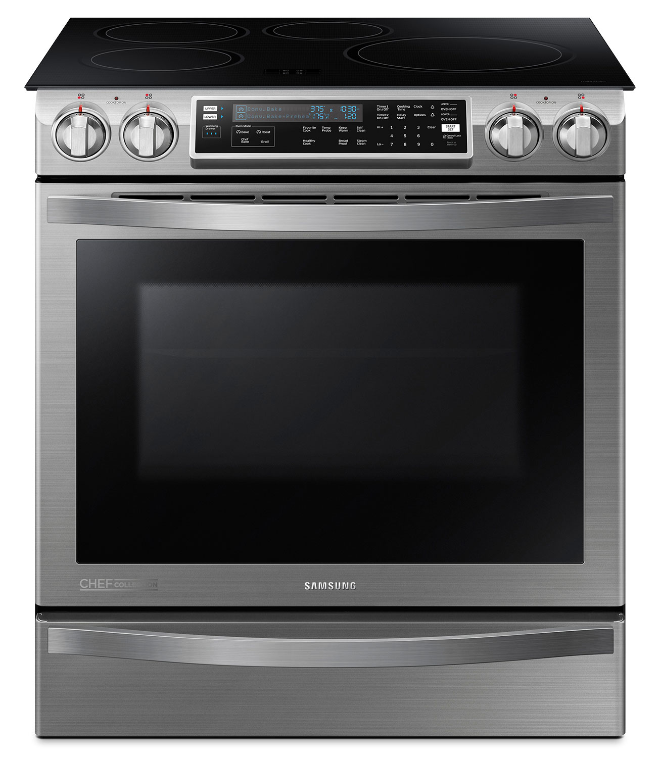 Cooking Products - Samsung Stainless Steel Slide-In Induction Convection Range - NE58H9970WS