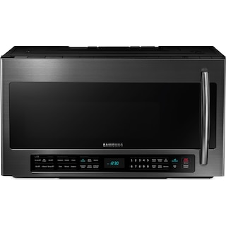 Samsung Black Stainless Steel Over-the-Range Microwave (2.1 Cu. Ft.) - ME21H706MQG/AC
