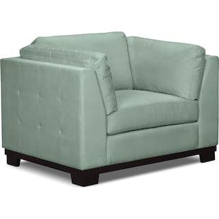 Carlow Microsuede Chair – Aqua