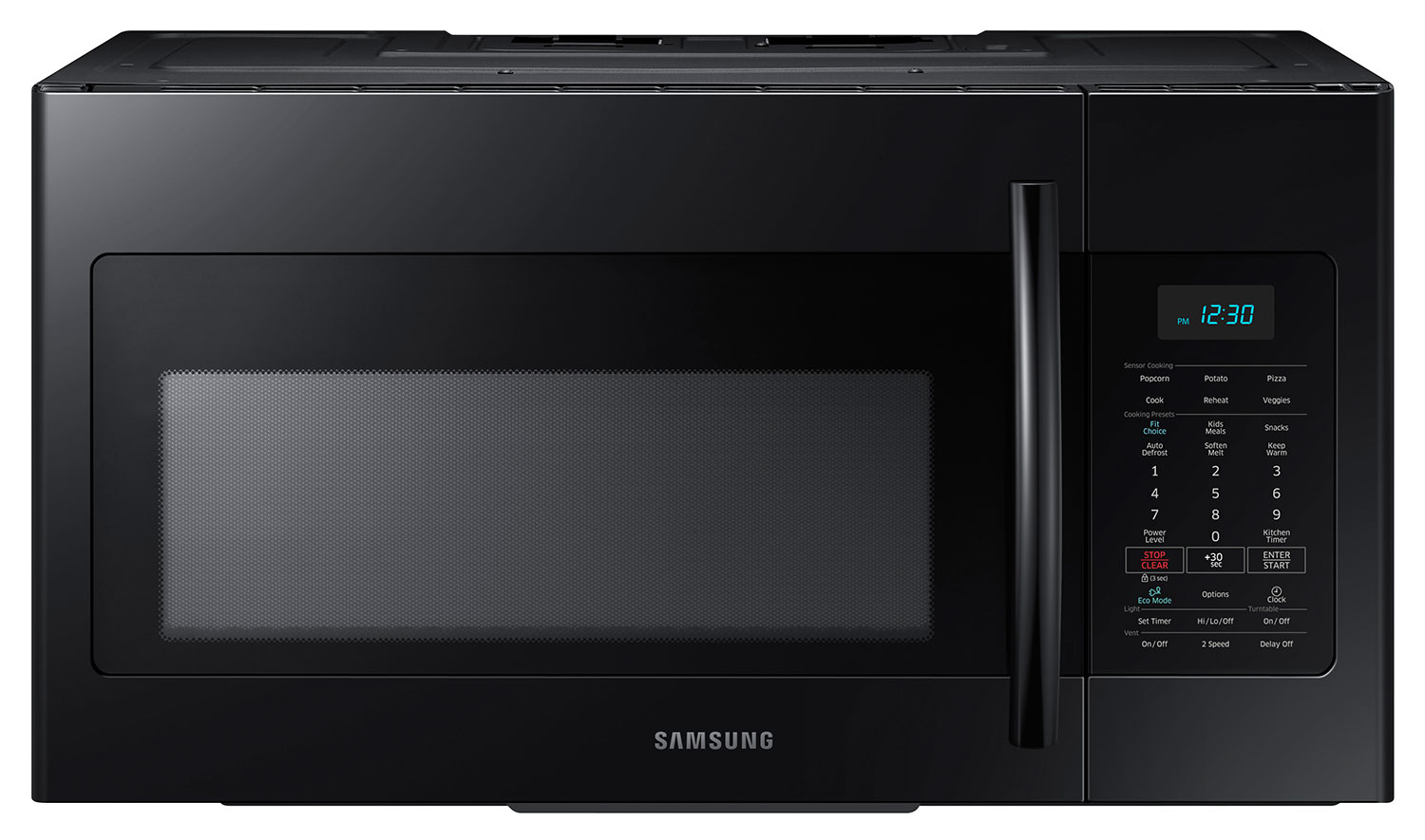 Cooking Products - Samsung 1.7 Cu. Ft. Over-the-Range Microwave – Black