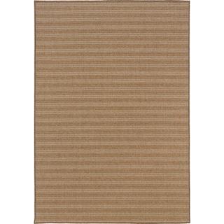 "Café 001X3 Woven Stripe Indoor/Outdoor Area Rug (8'6"" X 13')"