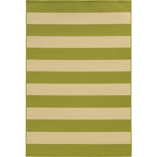 "Calypso 4768E Stripe Indoor/Outdoor Area Rug (8'6"" X 13')"