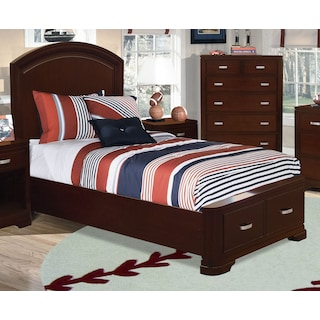 Norco Twin Storage Bed - Deep Cherry