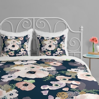 Une Femme in Blue - Queen 3 Piece Duvet Cover Set by Khristian A Howell