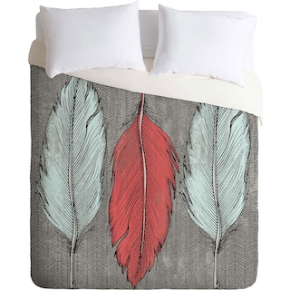 Feathered - Queen 3 Piece Duvet Cover Set by Wesley Bird