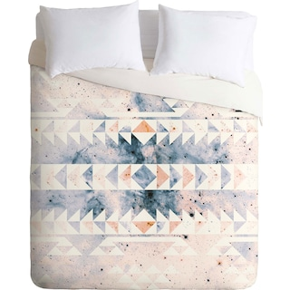 Arctic Gold Tribal - Queen 3 Piece Duvet Cover Set by Caleb Troy