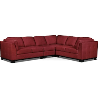 Carlow 4-Piece Living Room Sectional – Cherry