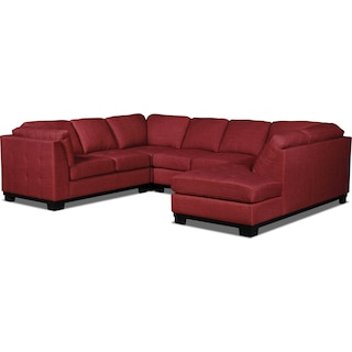 Carlow 4-Piece Right-Facing Sectional – Cherry