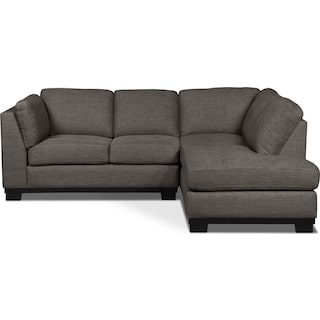 Carlow 2-Piece Right-Facing Sectional – Platinum