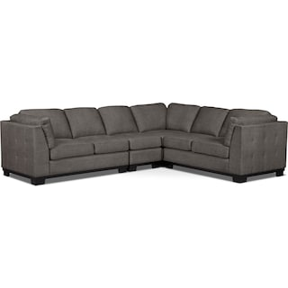 Carlow 4-Piece Living Room Sectional – Platinum