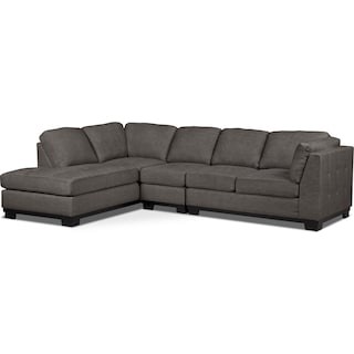 Carlow 3-Piece Left-Facing Sectional – Platinum