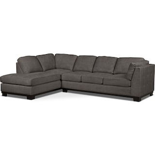 Carlow 2-Piece Left-Facing Sectional with Sofa Bed – Platinum
