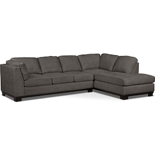 Carlow 2-Piece Right-Facing Sectional with Sofa Bed – Platinum