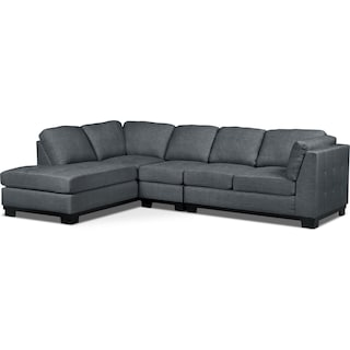 Carlow 3-Piece Left-Facing Sectional – Steel