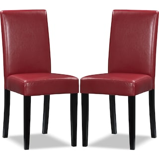 Ampton Red 2-Pack Chairs