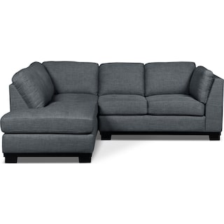 Carlow 2-Piece Left-Facing Sectional – Steel