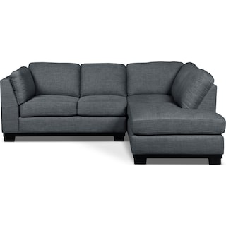 Carlow 2-Piece Right-Facing Sectional – Steel