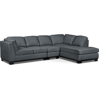 Carlow 3-Piece Right-Facing Sectional – Steel