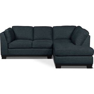 Carlow 2-Piece Right-Facing Sectional – Denim