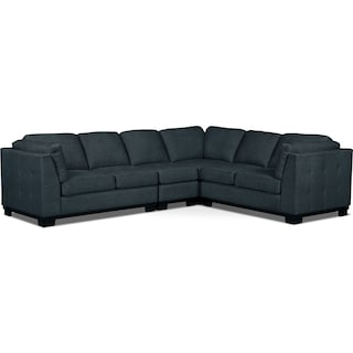 Carlow 4-Piece Living Room Sectional – Denim