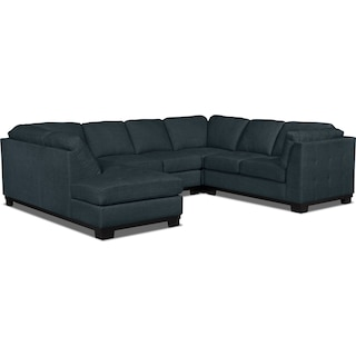 Carlow 4-Piece Left-Facing Sectional – Denim
