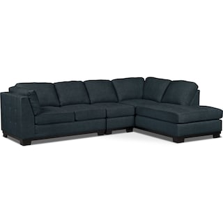 Carlow 3-Piece Right-Facing Sectional – Denim