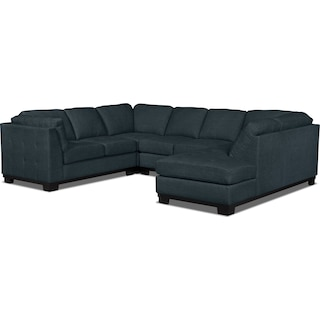 Carlow 4-Piece Right-Facing Sectional – Denim