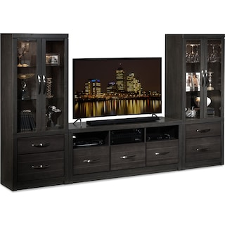 Conna 3-Piece Entertainment Wall Unit - Charcoal