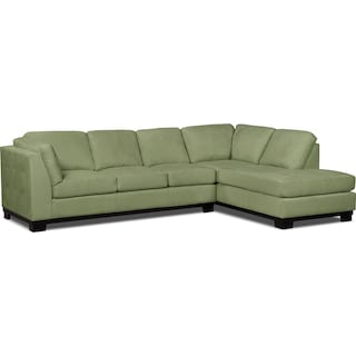 Carlow 2-Piece Right-Facing Sectional with Sofa Bed – Pear