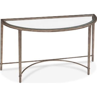 Herbert Sofa Table - Glass and Gold