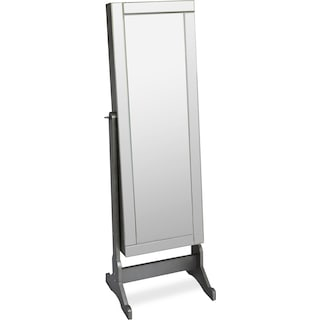 Newmarket Jewelry Mirror Cabinet with Panel Border