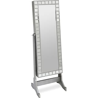 Newmarket Jewelry Mirror Cabinet with Mosaic Border