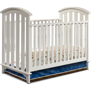 Isabelle Convertible Crib - White